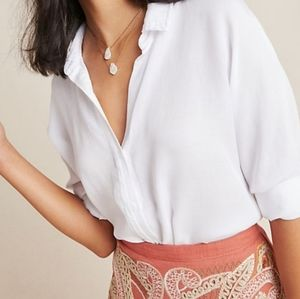 NWT. Brand New Anthropologie White Shirt. XL